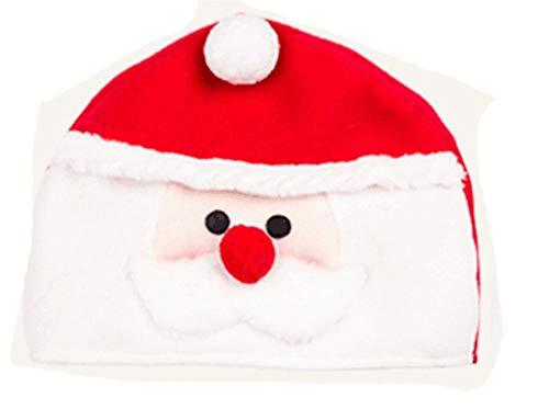 ZHRUI Weihnachtshandgemachte Uhr-Hut-Komfort-beiläufige Reizende Weihnachtsmuster-Hüte (Farbe : Weiß, Größe : Einheitsgröße)