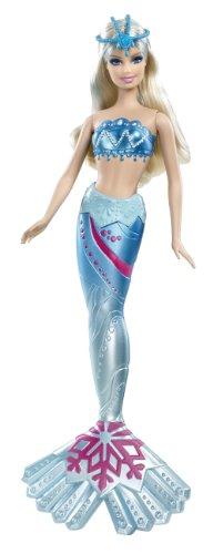 Mattel W6283 - Barbie Meerjungfrau, hellblau, Puppe