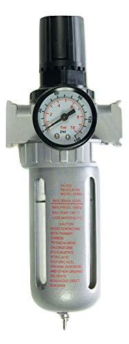 "Merry Tools HK 60cc Línea Aire Filtro Regulador Con Calibre Compresor Agua Colector De Humedad 3/8"" 214110"