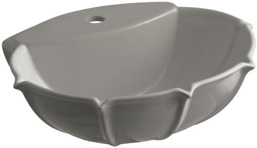 KOHLER K-2230-1-K4 Anatole Pedestal Bathroom Sink Basin with Single-Hole Faucet Drilling, Cashmere