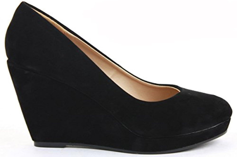 4525ff170d1 Ladies Womens Smart Pumps Pumps Pumps Work Formal Court Wedge Shoes Wedges  High Heel Platform Classic Size 3 - 8 New B009AALM80 Parent e44395