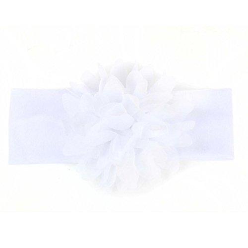 Tongshi Los bebés de las vendas de la flor Fotografía Atrezzo Accesorios de la venda (Blanco)