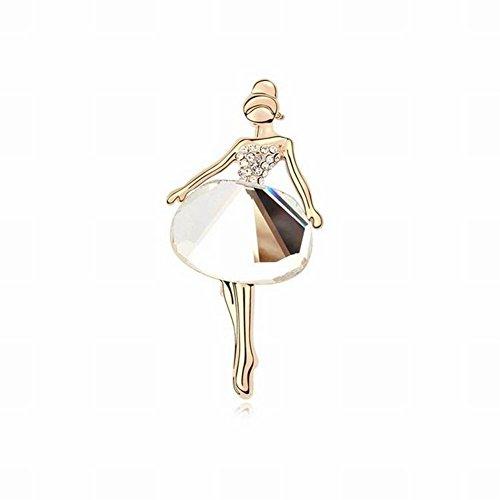 HOX Mode OL Brosche Pins Vergoldet Dancing Elf Brosche High-End-Kleidung Dekoration Legierung Glas-Legierung Vergoldet, Weißes Gold - Dancing Diamant-ring