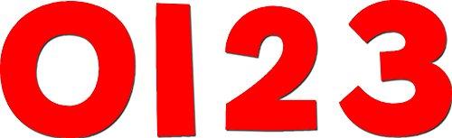 Creative Teaching Press Design Numbers, Rouge (6578)