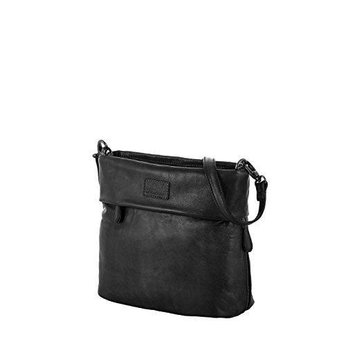 Rada Nature Umhängetasche \'Carrara\' echt Leder Handtasche in verschiedenen Farben (schwarz)
