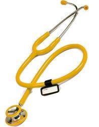 Doppelkopf Stethoskop in Gelb, Blau, Burgund oder Pink für Krankenschwester, Praxis, Station, Rettungsdienst super Akustik