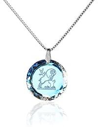 Silberkette Halskette 925 Silber Sternzeichen Tierkreiszeichen Hergestellt mit SwarovskiKristall