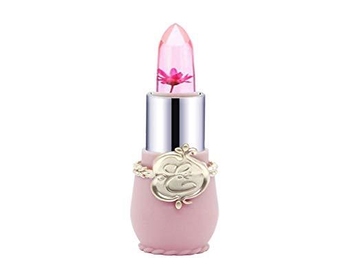 Firally Donne Bellezza Brillante Fiore Cristallo Gelatina Rossetto Magico Cambiamento Di Temperatura Colore Labbro Lucido Rossetto Lunga Durata(F)