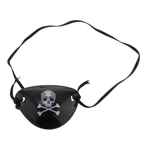 Fenteer Piraten Cosplay Augenklappe Augenmaske Kostüm Prop, Skull Muster, Schwarz (Kostüm Augenmaske Muster)