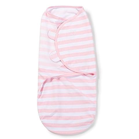 SwaddleMe-Original-Pucksack, klein (0-3 Monate), rosa und weiße Streifen