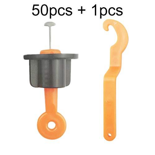 perlo33ER Tragbare Bodenbelag Wand Keramikfliesen Leveler Locator Höhenversteller - Orange 51 -