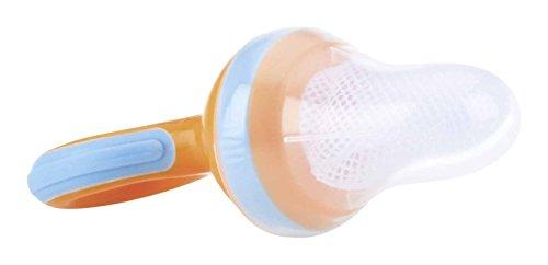 Nuby ID5397 Alimentador antiahogo con redecilla color naranja
