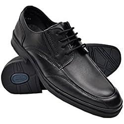 Zerimar Zapatos Hombres | Zapatos de Piel | Zapatos Vestir | Zapatos Hostelería | Zapatos de Camareros Color Negro Talla 40
