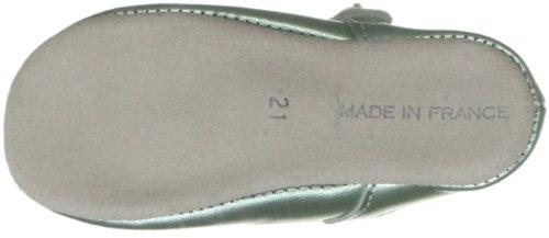 Rachel Riley Metallic Button Strap Slippers Rrshoe1ame, Chaussures formelles occasions spéciales fille Vert - Metallic Green