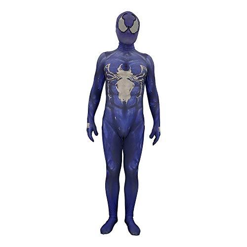 JUFENG Venom Spinne Anime Cosplay Kostüm Zentai 3 Spider Man Muster Body Anzug ()