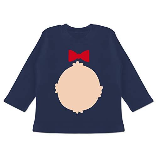 Grizzly Bär Baby Kostüm - Karneval und Fasching Baby - Bär Kostüm Karneval - 18-24 Monate - Navy Blau - BZ11 - Baby T-Shirt Langarm
