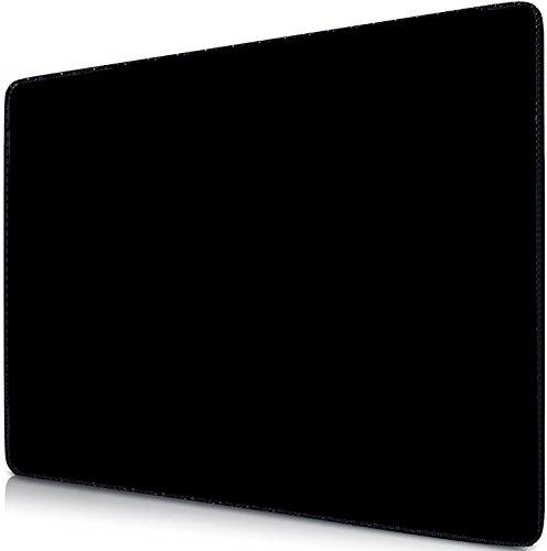 Sidorenko Gaming Mauspad | Mousepad 280 x 200 mm | Fransenfreie Ränder| spezielle Oberfläche verbessert Geschwindigkeit und Präzision | Rutschfest | schwarz