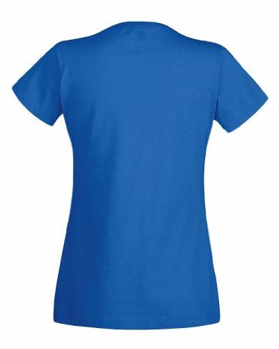 T-shirt à manches courtes Fruit Of The Loom pour femme Royal Blue