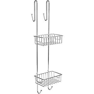 Bamodi Duschablage zum Hängen verchromt - Duschregal ohne Bohren für Bequeme Aufbewahrung von Shampoo - Rutschfester Duschkorb zum Einhängen - Duschregale - Duschkörbe mit Handtuchhalter (70 cm)