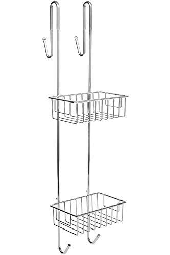 duschkorb haengend edelstahl Bamodi Duschablage zum Hängen verchromt - Duschregal ohne Bohren für Bequeme Aufbewahrung von Shampoo - Rutschfester Duschkorb zum Einhängen - Duschregale - Duschkörbe mit Handtuchhalter (70 cm)