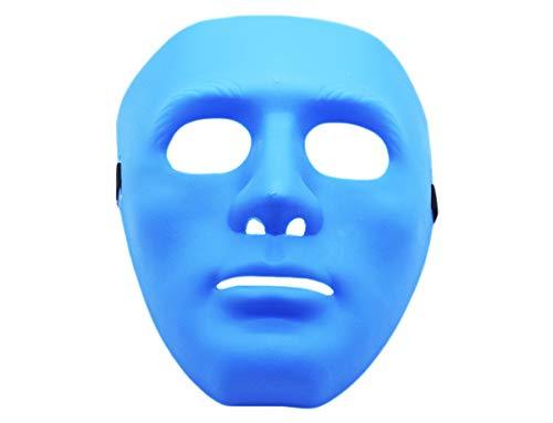 GYD Fort Purge NO Face Cosplay Blanko Maske Maskenball Verkleiden Kostüm für Fasching, Karneval, Halloween (blau)