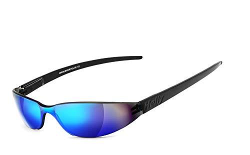 Helly® - No.1 Bikereyes® | Flex-Scharnier, UV400 Schutzfilter, HLT® Kunststoff-Sicherheitsglas nach DIN EN 166 | Bikerbrille, Motorradbrille, Sportbrille | Brille: freeway 3.1