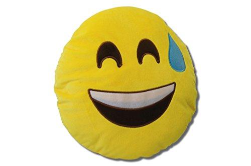 Katara 1788 Emoji Motiv, Tier-Kissen, Smiley Spaßkissen, Emojicon Plüsch Sitzkissen für...