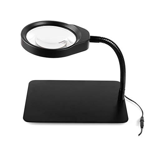 Preisvergleich Produktbild LYXPUZI 10 mal Desktop-Lupe elektronische High-Definition-Licht mit Licht arbeiten Multifunktions