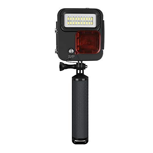 ZBDuDu 1000LM Unterwasser Tauchen LED-Licht Wasserdichtes Gehäuse für GoPro Hero 6 5 4 3+ Silber Schwarz Action-Kamera -