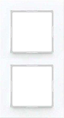 Preisvergleich Produktbild Jung Rahmen 2fach Serie A Creation alpinweiß, 1 Stück, AC 582 WW