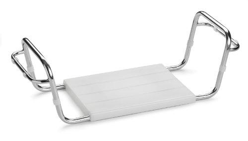 Aris 3104 Special End Serie - Badewannensitz - Verchromte Stahlstruktur, Weiss Lackiert Mit Armlehnen - Sitz Aus Polypropylen - Made In Italien