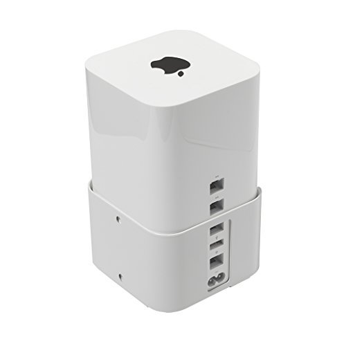 hideit air-xt Wandmontage (weiß) Halterung für Apple Airport Extreme 6. Generation, Airport Time Capsule 5. Gen. (2013-current) (Apple Airport 6)