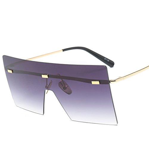 hanxniwm Mode Decken zweifarbige Sonnenbrillen Europa und die Vereinigten Staaten Trendbrille ab