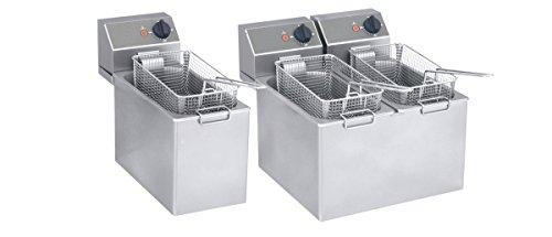 Gam Gastro Doppel Friteuse Ft 44 4000 Watt Edelstahl Neu