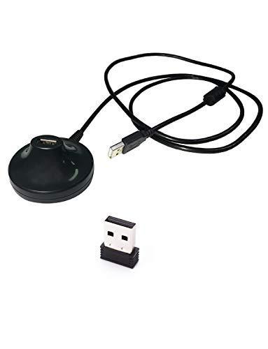 CooSpo USB Ant+ Zwift Dongle Stick con Cable USB 2.0 Extendido de 6,56 Pies Aplicable para el Ciclismo en el Interior Compatible con Zwift Strava y Más Aplicaciones