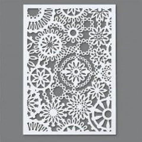 Efco–Plantilla de flores 1diseño DIN A 5, de plástico, transparente