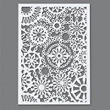 efco Schablone, Blätter-Design, Kunststoff, A5, transparent