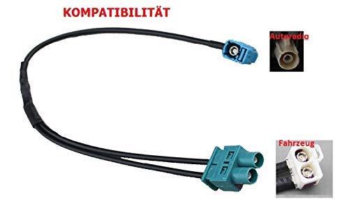 M.I.C.® SKAA-53G: KFZ Auto Radio Antenne Adapter 1 x Fakra Winkelkupplung Buchse - Doppel Fakra Stecker für VW Skoda Audi SEAT - Doppel-antennen-adapter