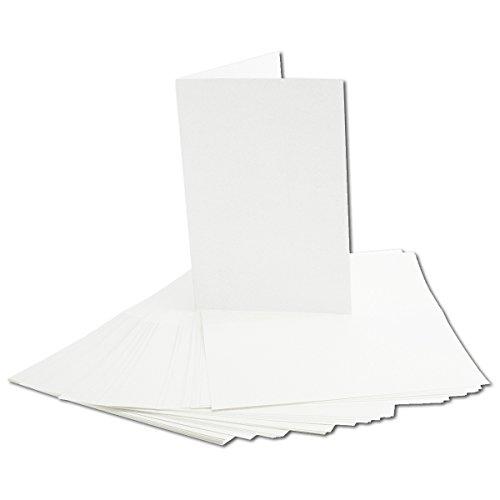 e-Papier für B6 Doppelkarten | transparent-weiß | 163 x 224 mm (112 x 163 mm gefaltet) | ideal zum Bedrucken mit Tinte und Laser | hochwertig Mattes Papier von Gustav NEUSER® ()
