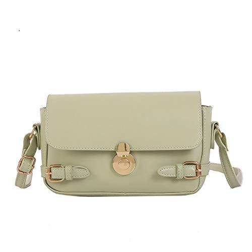 Artistic9 Handbag Damen Umhängetasche Täglicher Gebrauch Handtasche Umhängetasche aus Leder Vintage Square Bag Flap Messenger Crossbody -