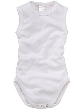 wellyou, 2er Set Baby-Body Kinder-Body ohne Arm, klassisch weiß, ärmellos für Jungen und Mädchen, Feinripp 100%...