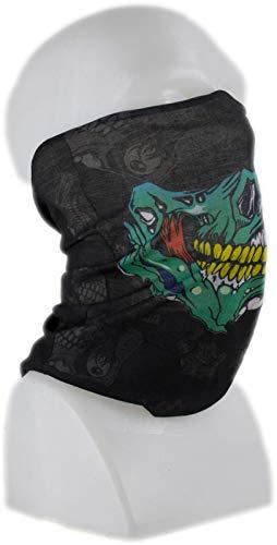 Cindio Sturmmaske Multifunktionstuch Bandana Schlauchtuch Halstuch mit Totenkopf- Skelettmasken für Motorrad Fahrrad Ski Paintball Gamer Karneval Kostüm Skull Maske (Biker 7)