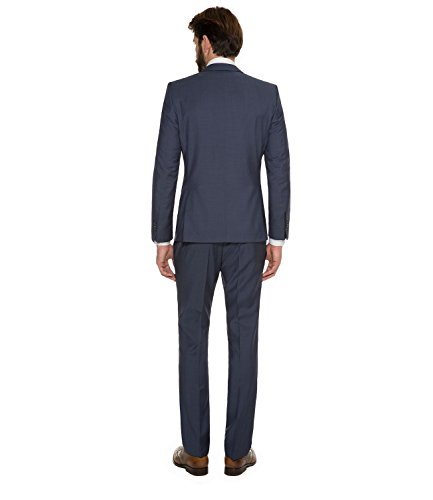 Michaelax-Fashion-Trade - Blazer - Uni - Manches Longues - Homme Bleu - Bleu jeans