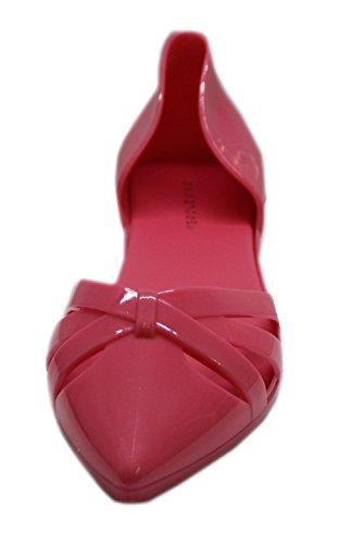 """Chaussure plate d'été bout pointu en plastique """"Jal"""" Rose"""