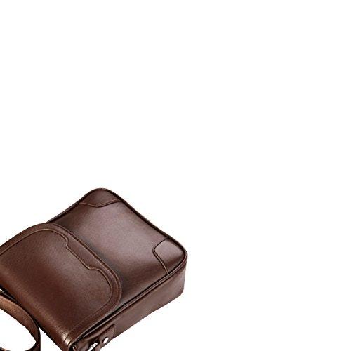 Yy.f Neue Mann Tasche Schulterbeutel Der Männer Kurierbeutel Business Casual Vertikal Männer Abschnitt Rucksack Mode-Taschen 3 Farben Black