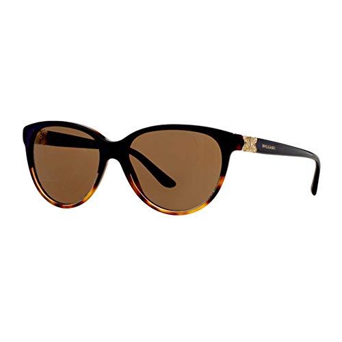 Bulgari Damen 0Bv8166B 537173 56 Sonnenbrille, Blau (Havana/Brown),