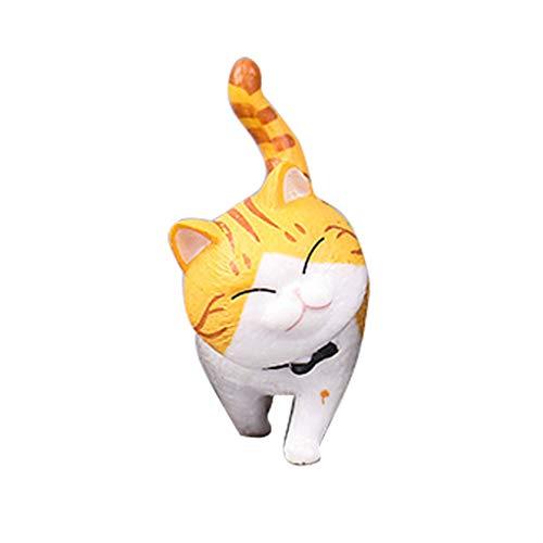 Babysbreath17 Simulation Mini Kitten Modell Figuren Tiere Miniatur-Haustier-Puppe spielt Tischdekoration Heim Ornament 2 4cm -
