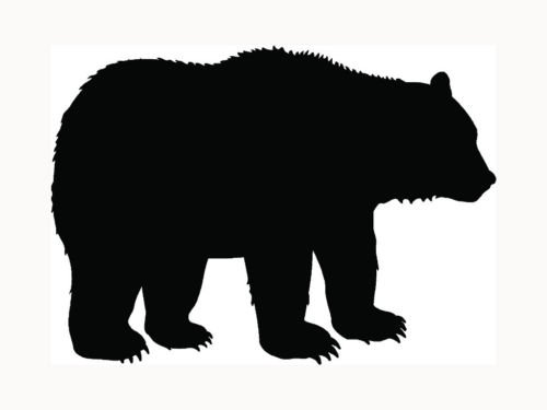 Grizzly-tool-box (Bear Sticker Grizzly Black Outdoors Wild Car Window Laptop Vinyl Decal Cut Vinyl Decal for Windows, Cars, Trucks, Tool Boxes, laptops, MacBook - virtually Any Hard, Smooth Surface)