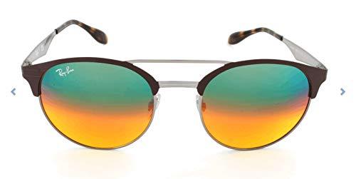 RAYBAN JUNIOR Unisex-Erwachsene Sonnenbrille RB3545, Gunmetal/Matte Brown/Gradient Silver, 51
