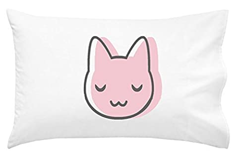 Oh, Susannah Pink Cat Pillowcase For Youth or Toddler Bedding As Kids Room Decor Youth Toddler Pillowcase Luxury Soft and Breathable Material